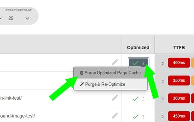 Pegasaas Accelerator WP Clear Cache - Manually purge individual Page Cache