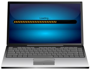 Laptop computer with Loading bar