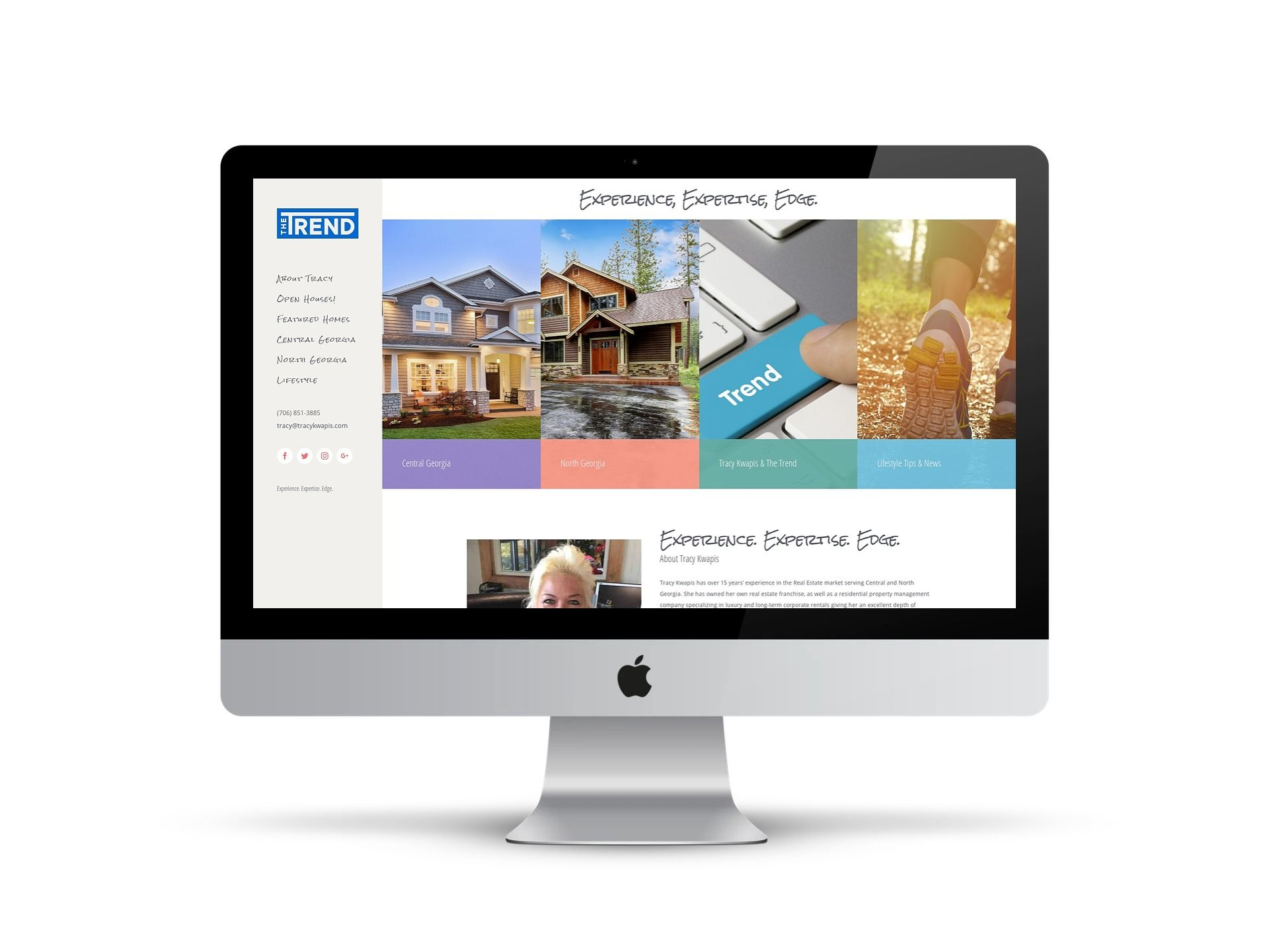 Tracy Kwapis - home page on screen