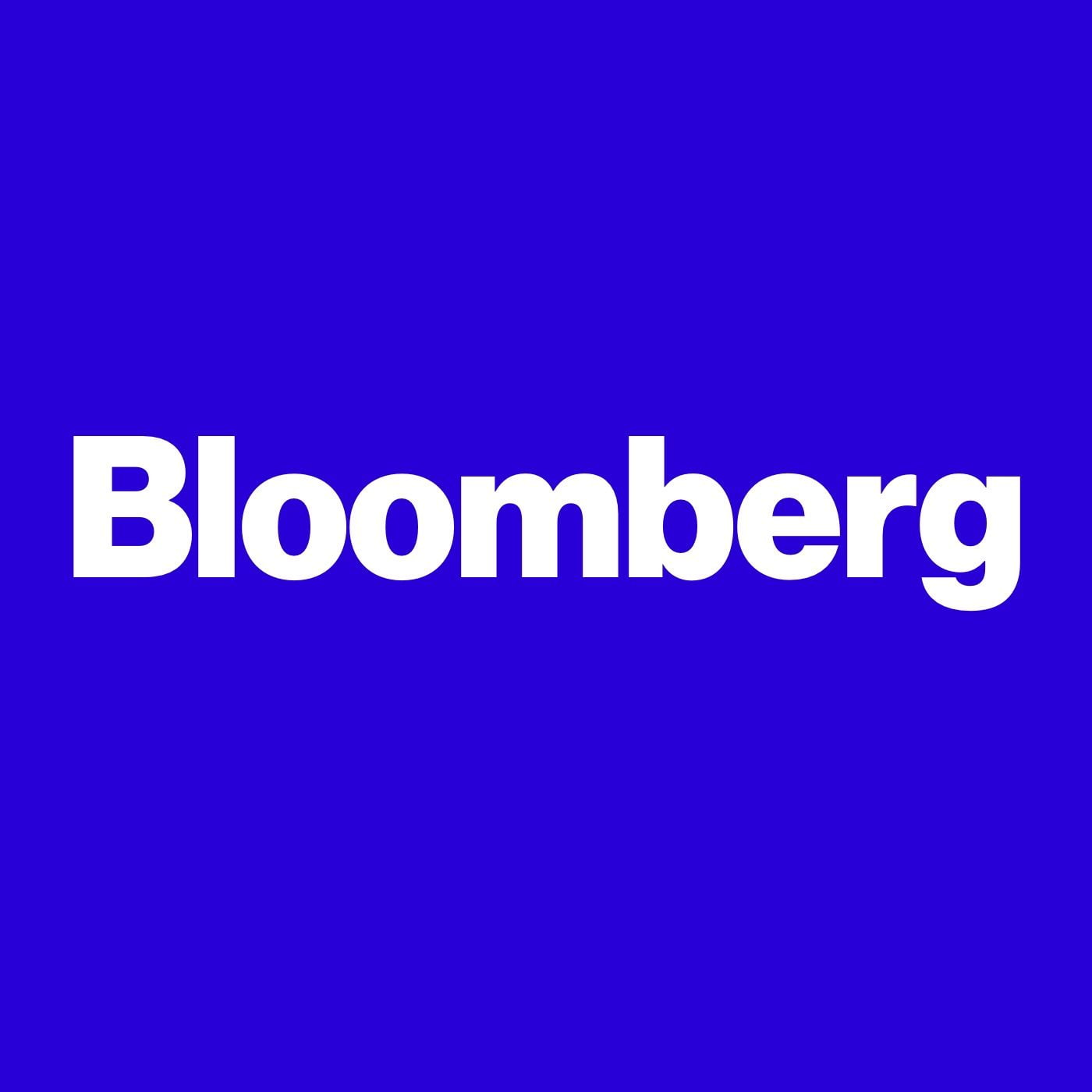 Bloomberg on the blue background