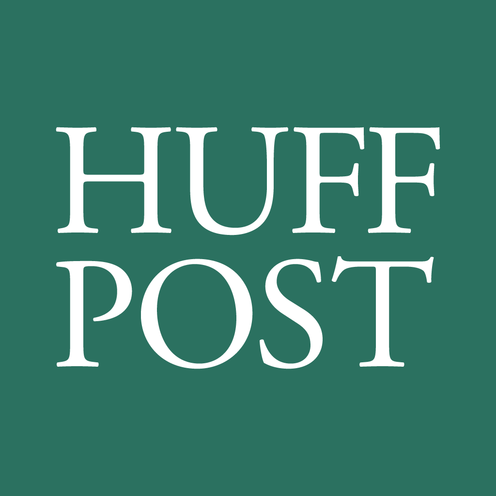 Huff Post on the green background