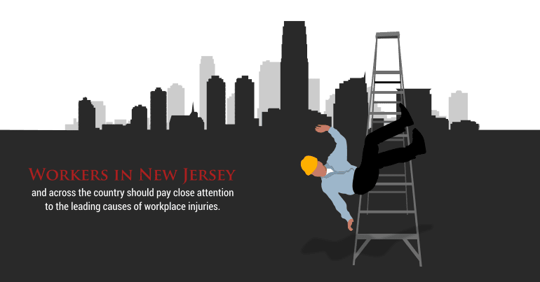 Workers in New Jersey and across the country should pay close attention to the leading causes of workplace injuries.