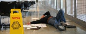 Our Teaneck personal injury lawyers list three key ingredients in slip and fall injuries - shoes, floors and people.