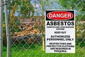 Asbestos exposure typically occurs when the substance is disturbed.