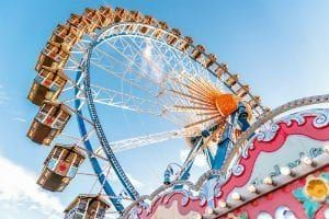 Three young girls fell from a ferris wheel at a county fair in Greeneville, Tennessee, suffering serious injuries.