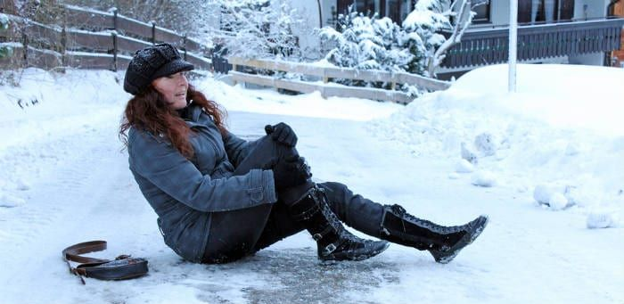 Icy Walkways, Driveways and Stairs