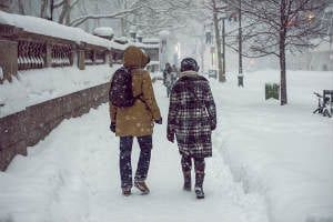 Navigating Snowy and Icy Walkways and Parking Lots