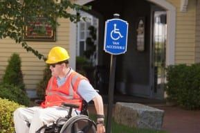 Victim of a New Jersey workplace injury in a wheel chair