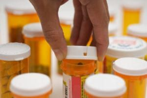 Bottles of New Jersey prescription drugs known to cause side effects