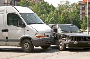 A severe side-impact car collision requiring a New Jersey car accident lawyer
