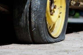 A flat tire causes a defective parts truck accident in New Jersey