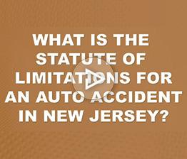 What is the Statute of Limitations for an Auto Accident in NJ? | Auto Accident FAQ