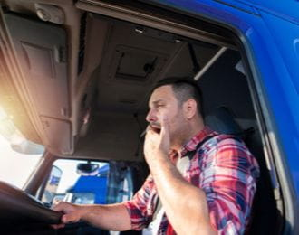 fatigued truck driver