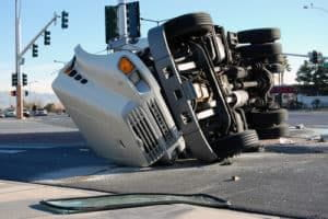 Semi-Truck rolled over on street