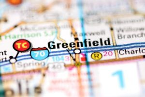 Greenfield Indiana on a map