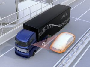 truck blind spot 3d graphic