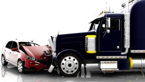 truck collision with a car