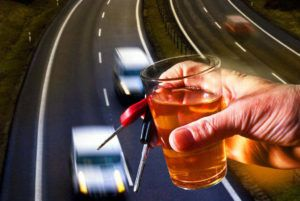 truck driver drinking in a highway