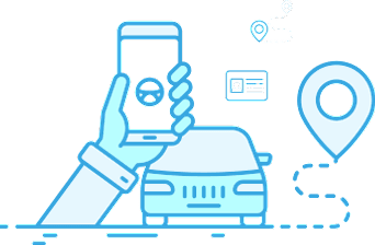 Depiction of Mobile Phone and Car ID and Navigation