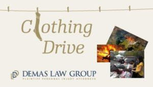 Clothing Drive from Demas Law Group