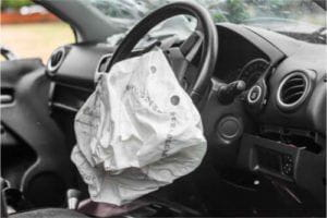 Airbags after a car accident