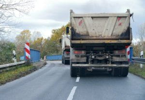 dump truck hit and run accident