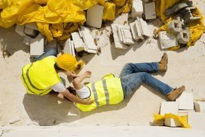 Construction Worker Falls from Ladder