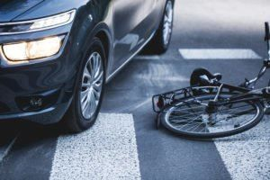 Bicycle accident in NYC.