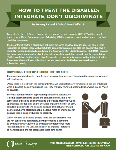 Guide download on how to treat people with disabilities