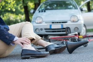 bicyclist hit by a car