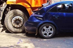 truck collision with car