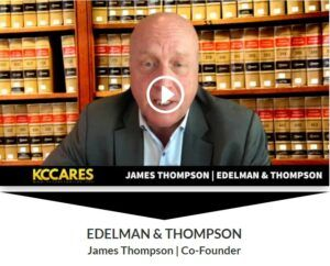 KC Cares Interview Showing James Thompson on Cameara