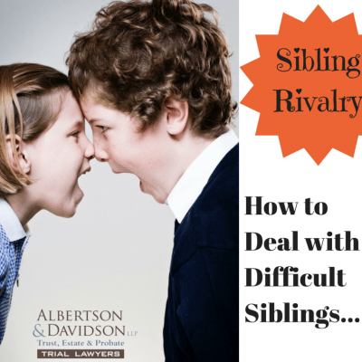 sibling rivalry - how to deal with difficult siblings