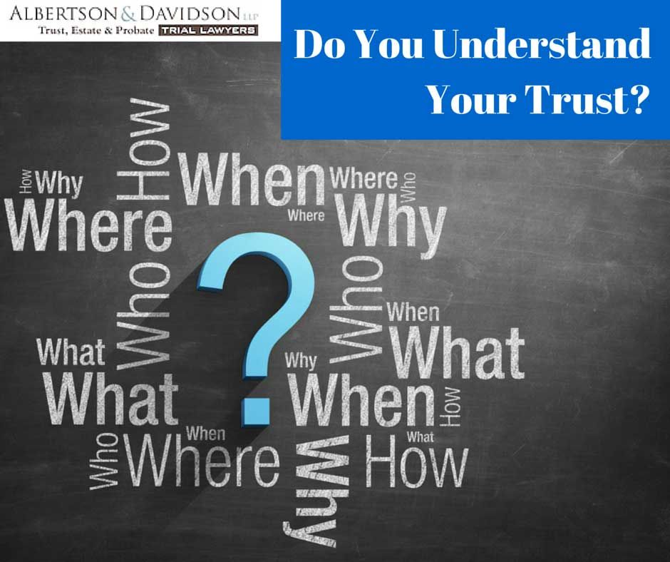 Do you understand you Trust?