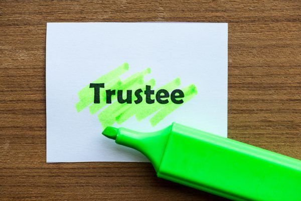 highlighted word - TRUSTEE