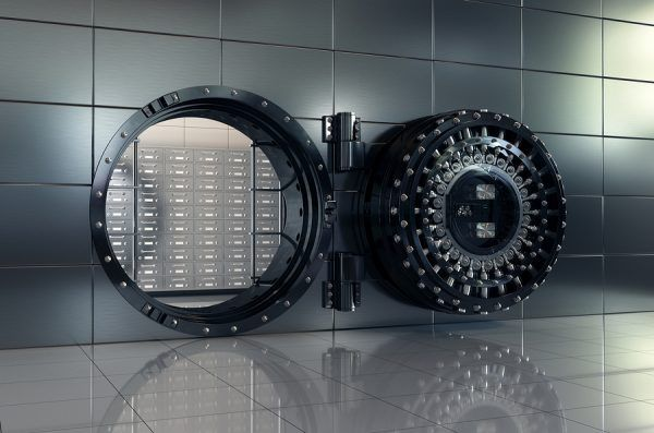 door of a bank vault