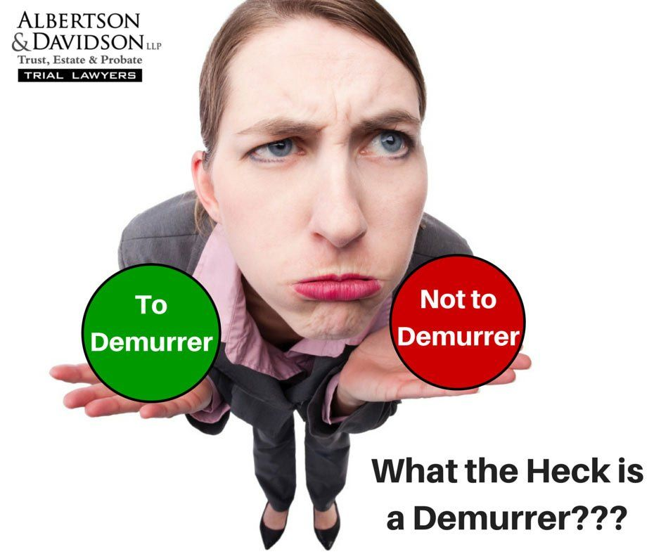 What is a demurrer?