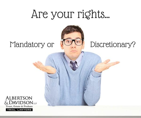 man asking if his rights are mandatory or discretionary