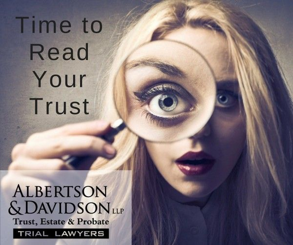 time to read your Trust