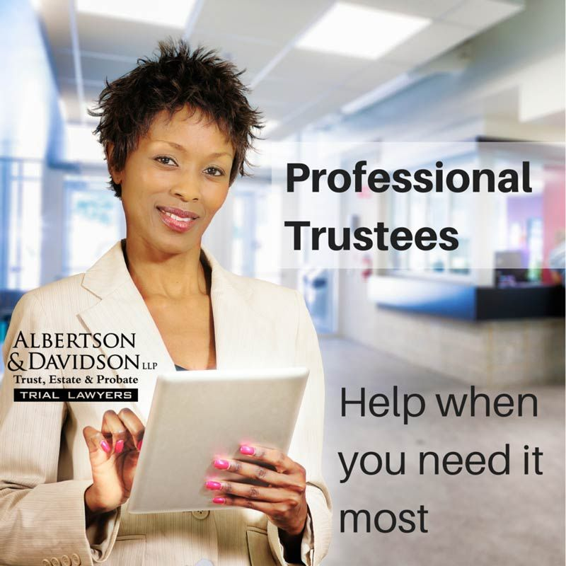Professional Trustees - help when you need it most