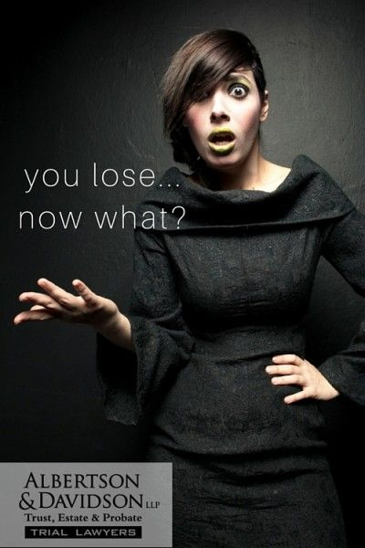 """woman saying """"You lose... Now what?"""""""
