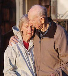 elder couple receiving litigation help from albertson and davidson law firm