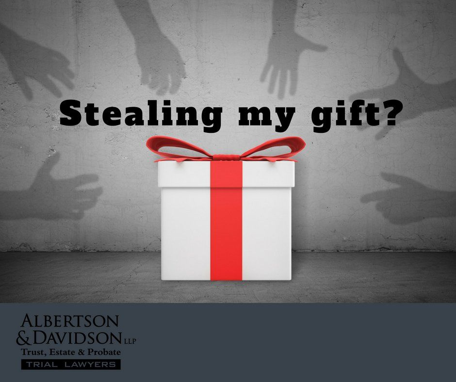 image of a gift surrounded by hands with title 'stealing my gift?""