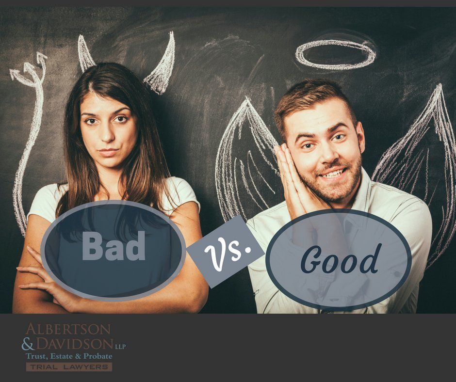 image of a good and bad comparison