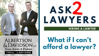 What if I can't afford a lawyer_