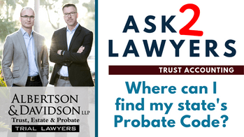 Where can I find my state's probate code_