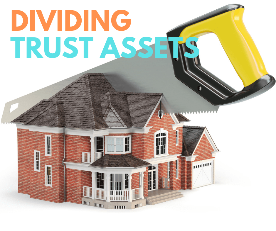 picture of house where couple is dividing trust assets