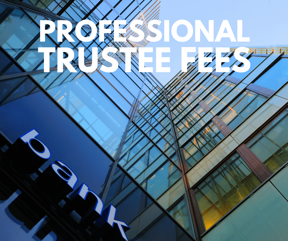 How much are professional trustee fees?