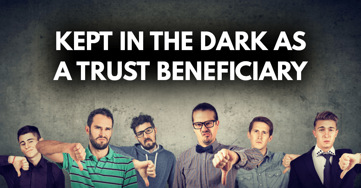 Image of men with thumbs pointing down to represent mistreatment of trust beneficiaries