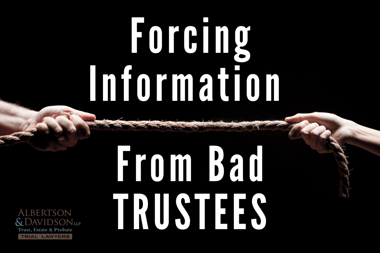 Can I force Trustee to Give Information and Distributions